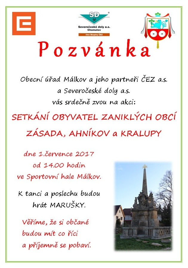 Setkání občanů zaniklých obcí 1.7.2017 1