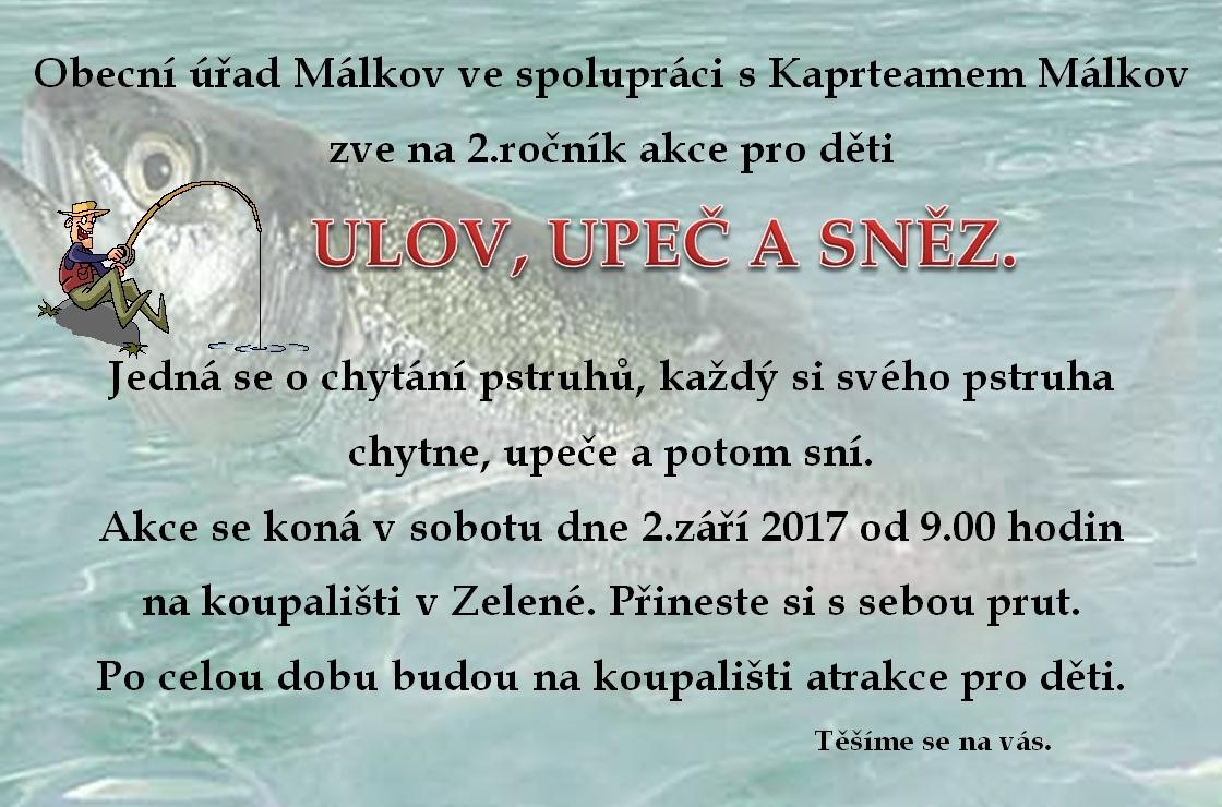 2.ročník ULOV, UPEČ A SNĚZ 2.9.2017 1