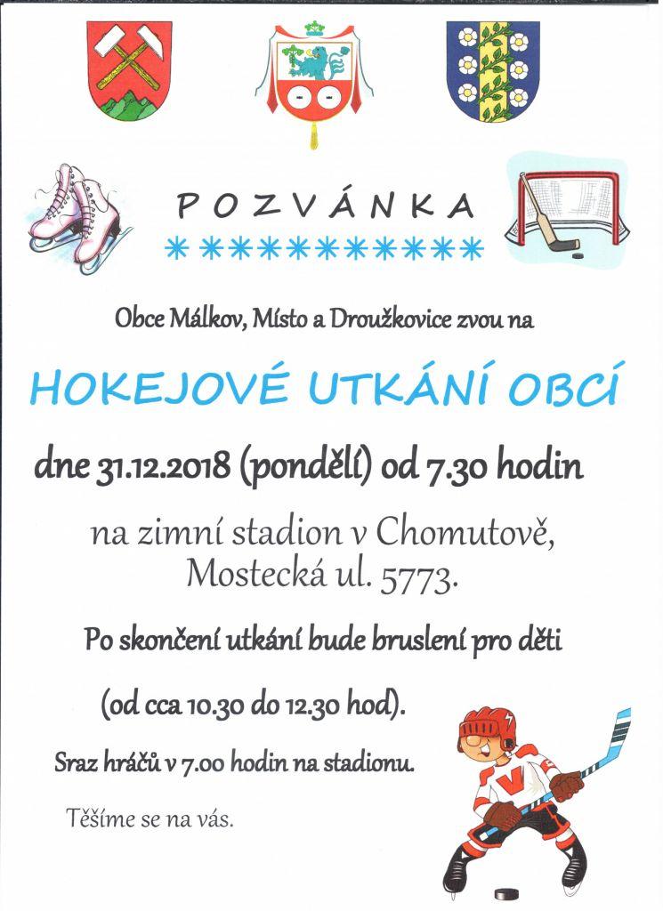 hokejové utkání obcí